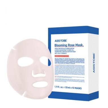 Ревитализирующая тканевая маска  для лица с маслом розы ASIS-TOBE Blooming Rose Mask